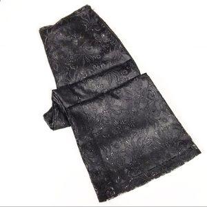Casual Corner Black Lace Wide Leg Pants